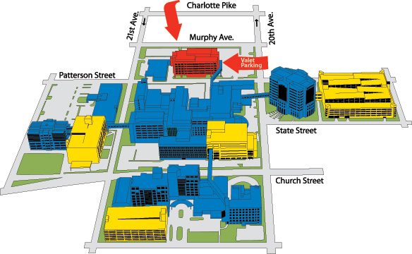 Campus Map of St Thomas Health Center