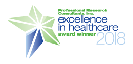 Award logo for PRC National Excellence in Healthcare