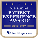 Award logo for Top 15% in U.S. for Outstanding Patient Experience for 2 Years in a Row (2018-2019)
